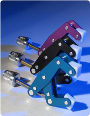 Litetight will provide clamping capability that is safe for surfaces, with non mare, non-stick Teflon holding tips.